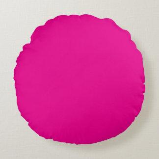 Fiji Fuchsia-Purple-Pink Magenta Tropical Romance Round Pillow