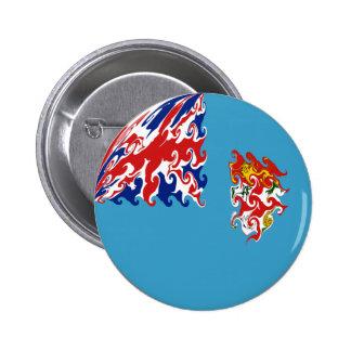 Fiji Gnarly Flag Pinback Button