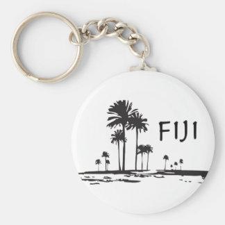 Fiji - Graphic Palm Trees Basic Round Button Keychain