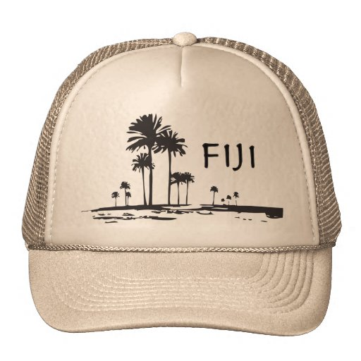Fiji - Graphic Palm Trees Hat