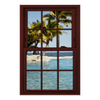 Fiji Island View #2 of 3 Picture Window Illusion Poster