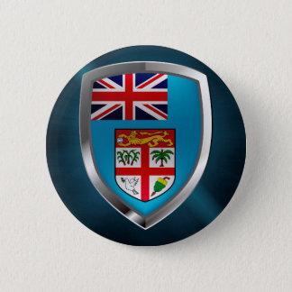 Fiji Mettalic Emblem 2 Inch Round Button