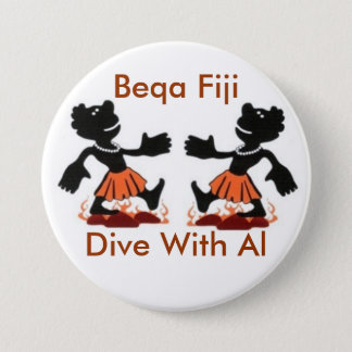 Fiji Native, Beqa Fiji, Dive With Al 3 Inch Round Button