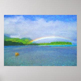 Fiji Rainbow Poster