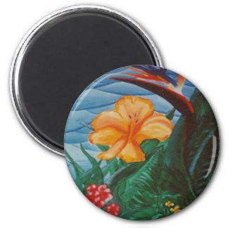 """Fiji"" Round Magnet"