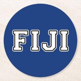 Fiji Round Paper Coaster