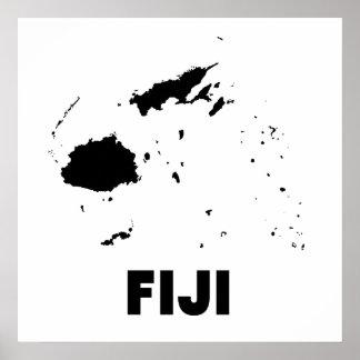 Fiji Silhouette Poster