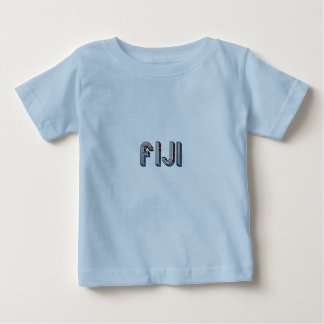 Fiji South Pacific Country Flag Typography Baby T-Shirt