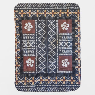Fiji Tapa Cloth Baby Blanket