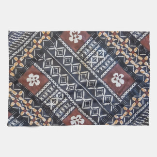 Fiji Tapa Cloth Print Kitchen Towel