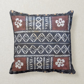 Fiji Tapa Cloth Print Pillow