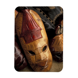Fiji, Viti Levu Masks at a town market. Magnet