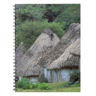 Fiji, Viti, Traditional hut houses. Notebook