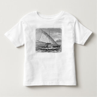 Fijian double canoe from The History of Toddler T-shirt
