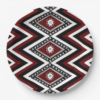 Fijian Print Paper Plates 9 Inch Paper Plate