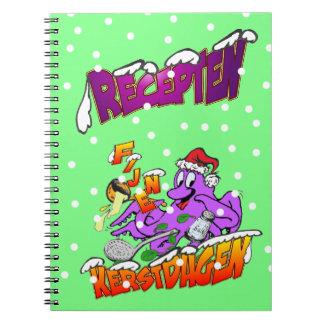 Fijne Kerstdagen Octopus Kok Recepten Notitieboek Notebooks