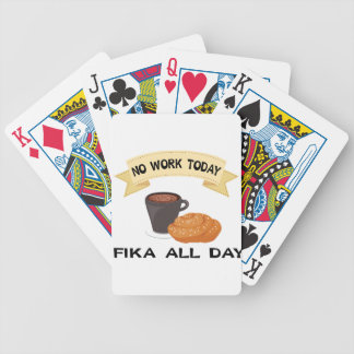 fika all day, no work today bicycle playing cards