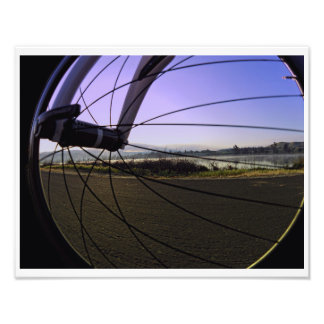 Fikeshot through the wheel. photo print