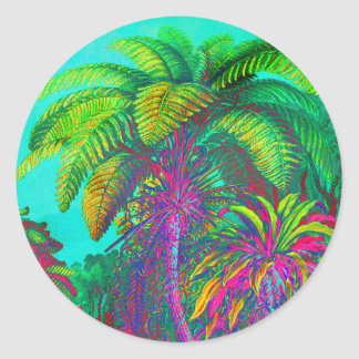 Filicinae Trees and Ferns Classic Round Sticker