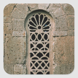 Filigrane de fenêtre, de basilique San Juan Sticker Carré