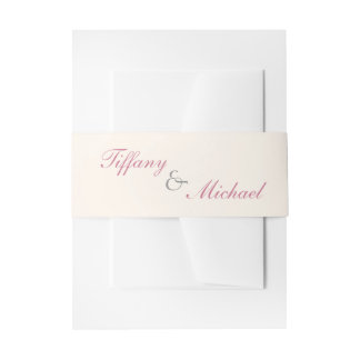 Filigree and Vine Roses Envelope Belly Band Invitation Belly Band