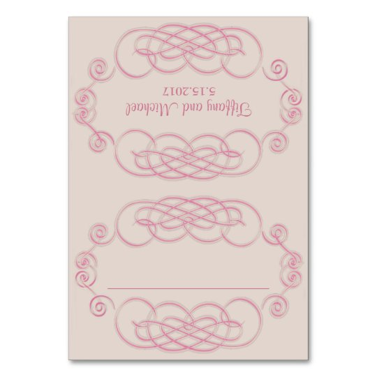 Filigree and Vine Roses Table Seating Place Cards
