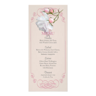 Filigree and Vine Roses Wedding Menu