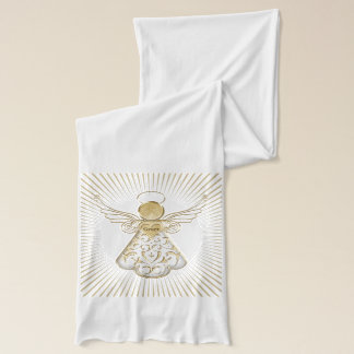Filigree Christmas Angel of Grace Typography Scarf