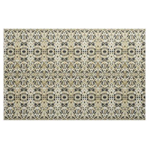 Filigree Circle Design in Gold Colour Fabric