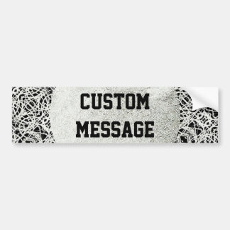 Filigree Design in Silver Color Bumper Sticker