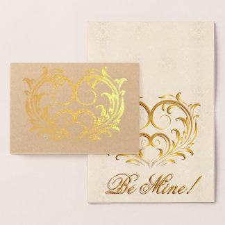 Filigree Gold Foil Heart - Be Mine! #2 Foil Card