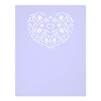 Filigree Heart Customized Letterhead