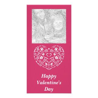 Filigree Heart Photo Valentine Photo Cards