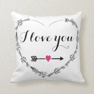 Filigree Heart with I Love You Pillow