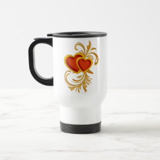 Filigree Hearts Valentine Mug Stainless Steel Travel Mug