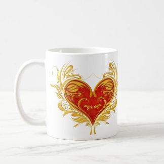 Filigree Hearts Valentine Mug