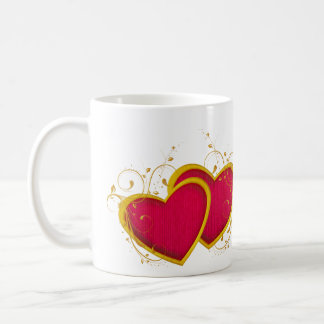 Filigree Hearts Valentine Mug