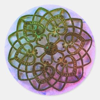Filigree lacy pattern. Pretty intricate metalwork Classic Round Sticker