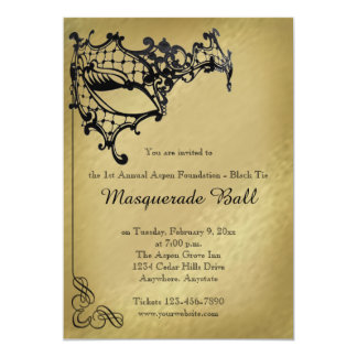 Filigree Masquerade Mardi Gras Ball Invitation