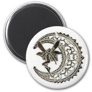 Filigree Moon Fairy Magnet