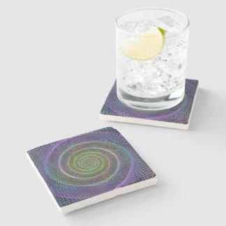 Filigree spiral structure stone beverage coaster