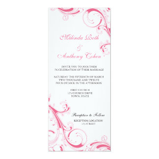 Filigree Swirl Pink Card
