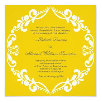 Filigree Wedding Invitation {mustard}