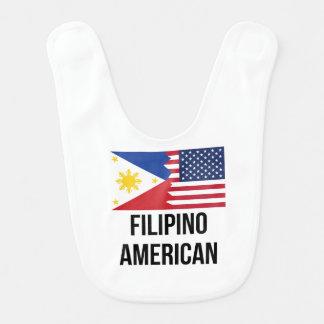 Filipino American Flag Baby Bib