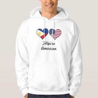 Filipino American Flag Hearts Hoodie