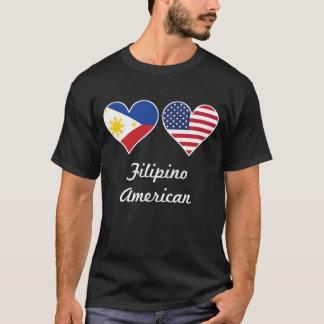 Filipino American Flag Hearts T-Shirt