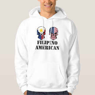 Filipino American Flag Skulls Hoodie