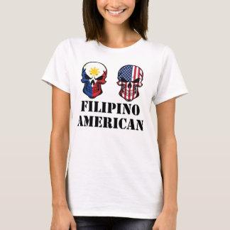 Filipino American Flag Skulls T-Shirt