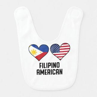 Filipino American Heart Flags Bib