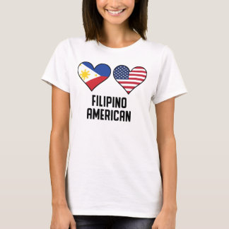 Filipino American Heart Flags T-Shirt